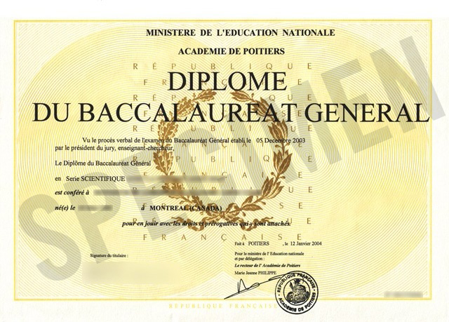 French Baccalaureate Results