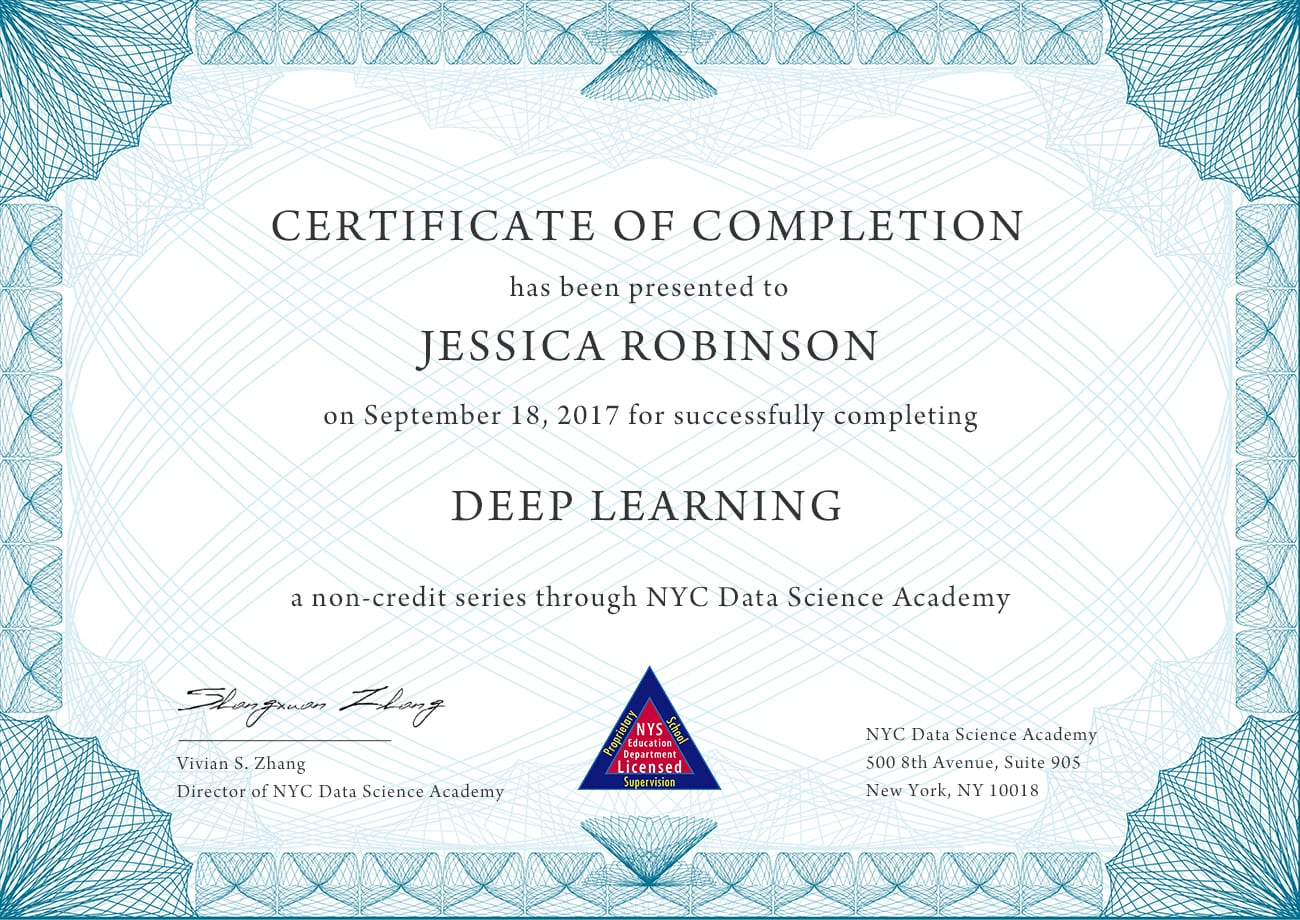 Deep Learning (with TensorFlow, Keras and PyTorch) | NYC