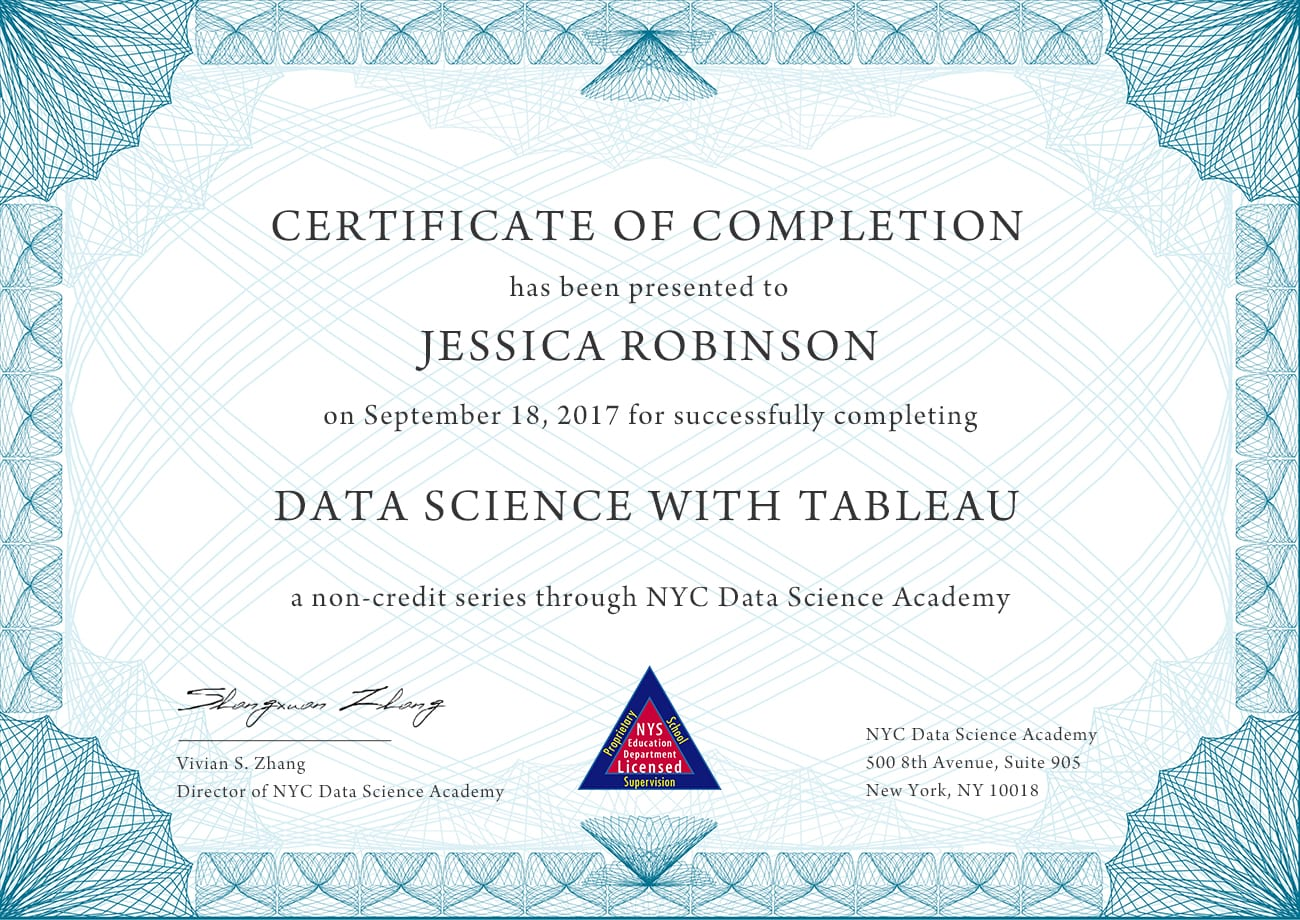 Data Science with Tableau   NYC Data Science Academy
