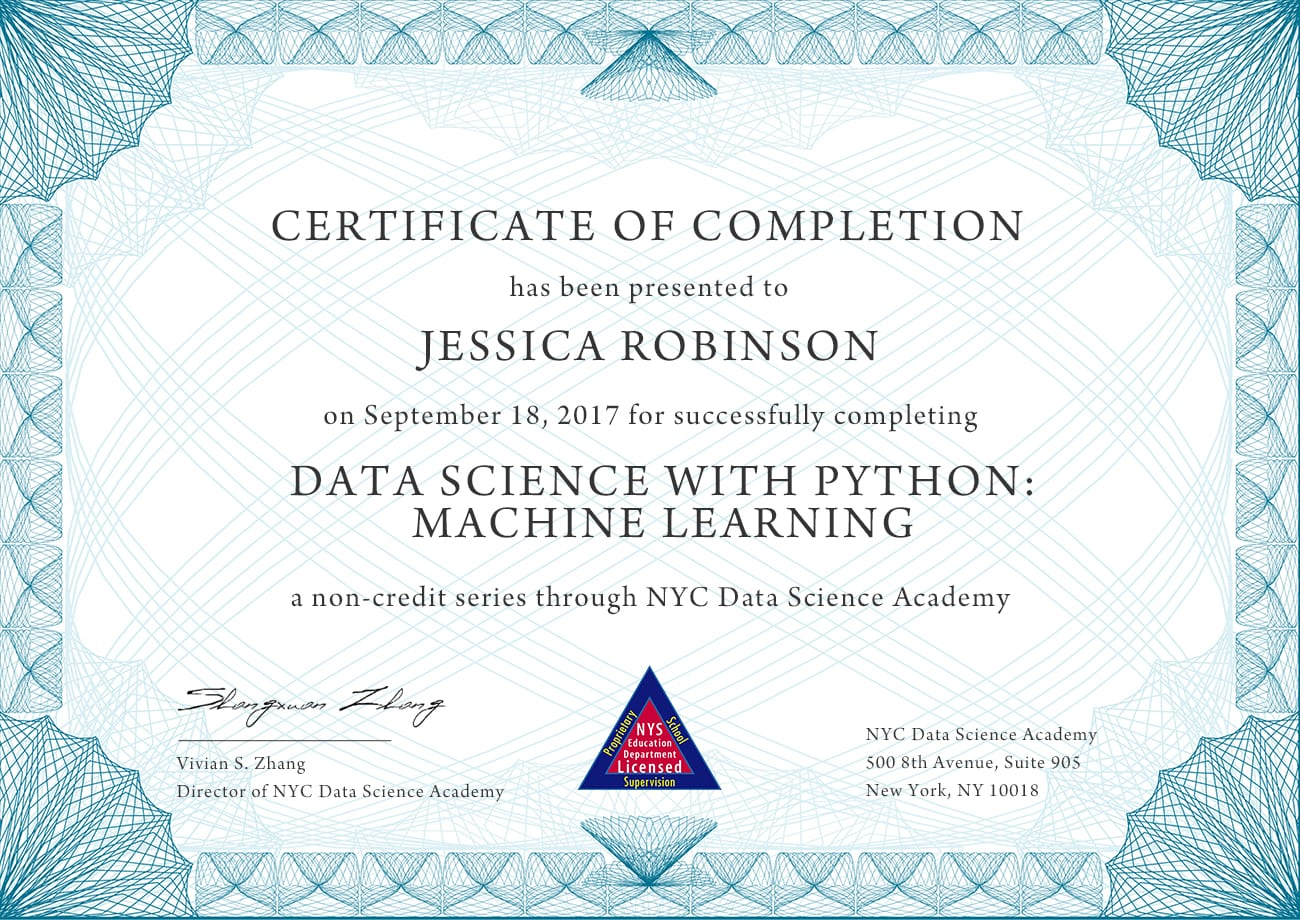 Data Science with Python: Machine Learning | NYC Data Science Academy