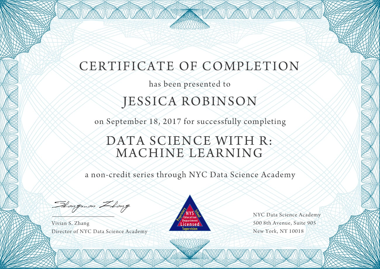 Data Science With R Machine Learning Nyc Data Science Academy